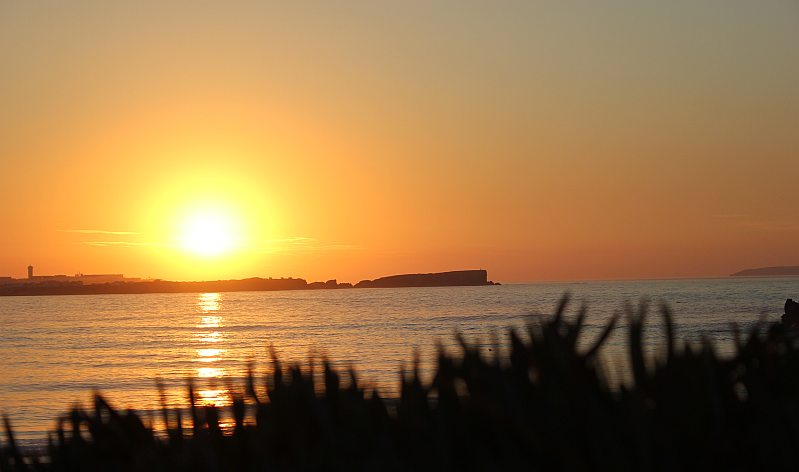 Peniche across the bay from Baleal